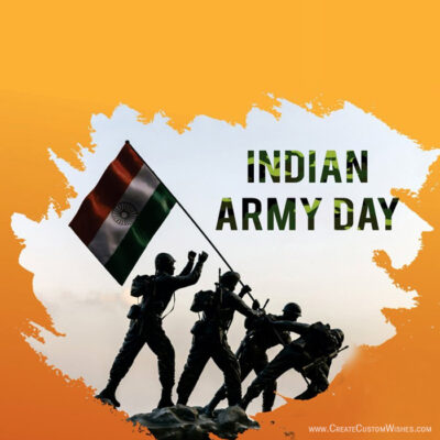 Create Indian Army Day Card for Business