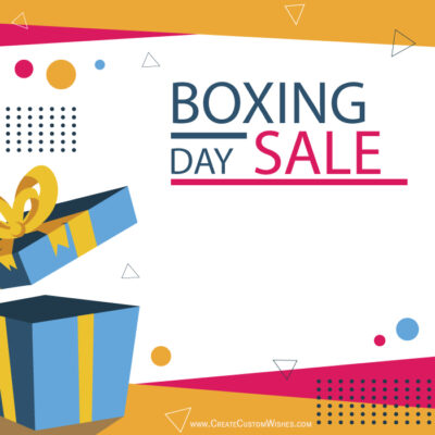 Create Poster for Boxing Day Sales