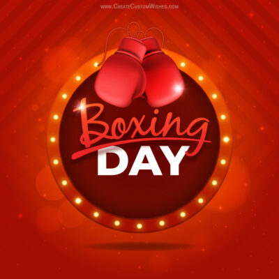 Customize Boxing Day Sale Photo for UK