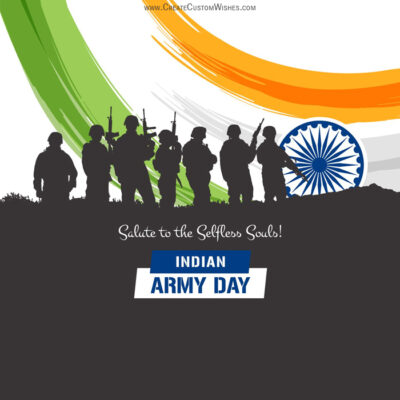 Customize Indian Army Day Wishes Card