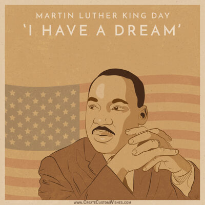 Customize Martin Luther King Day Card