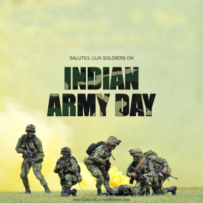 Editable Indian Army Day eCard Online