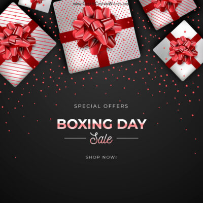 Free Editable Boxing Day Sale Banner