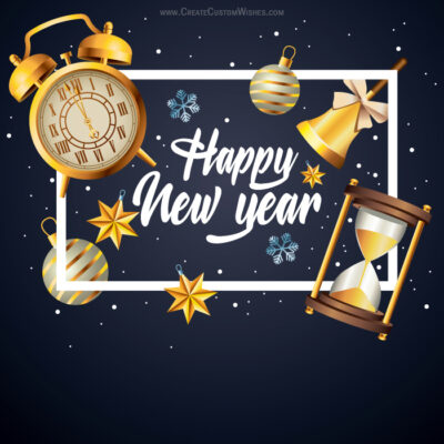 Happy New Years with Name editor