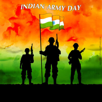 Make Indian Army Day Celebration Card