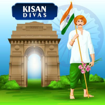 Make Kisan Divas Image for Company