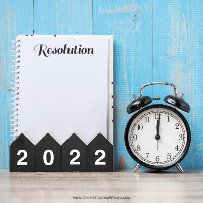 New Years 2022 Resolution Making Online