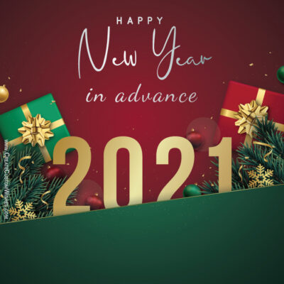 New Year 2021 in Advance Wishes