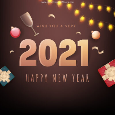 New Year Eve 2021 greetings Card
