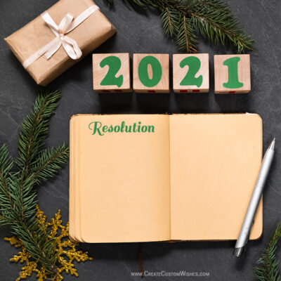 New Year's Resolution Making Online