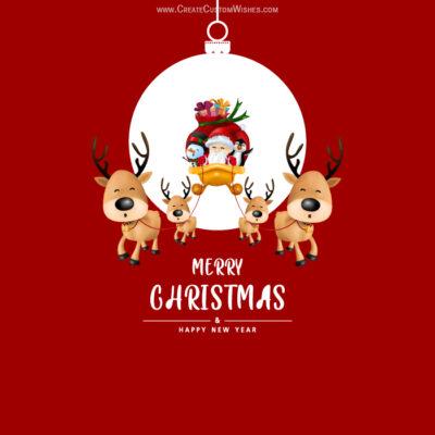 Editable Christmas Card with Name & Photo