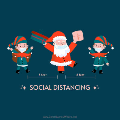 Social Distancing Christmas Wishes Card