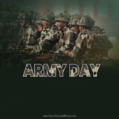 Write Name on Indian Army Day Wishes Image
