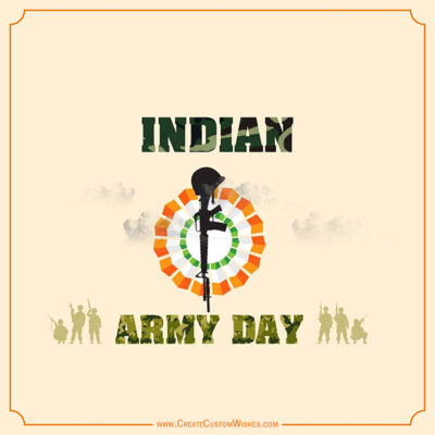 Write text on Indian Army Day Images