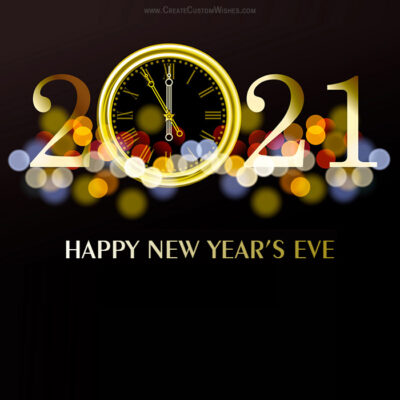Happy New Year's Eve 2021 with Name