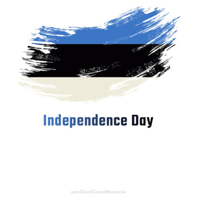 Add Name on Estonia Independence Day Card