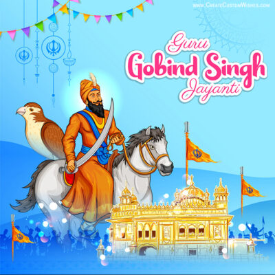 Add Name on Guru Gobind Singh Jayanti Card