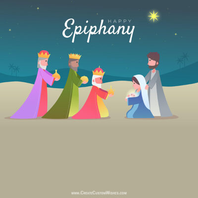Add Name on Happy Epiphany Wishes Pic