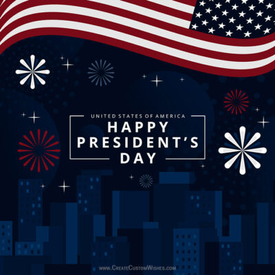 Add Name on Happy President's Day Card