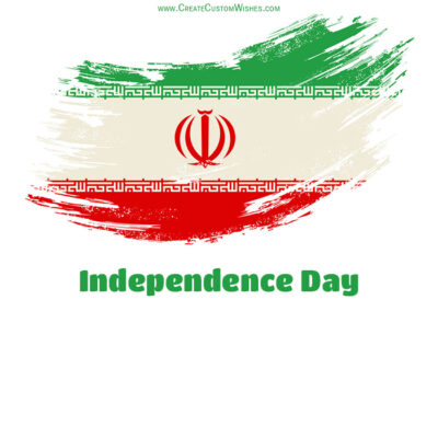 Add Name on Independence Day of Iran Card