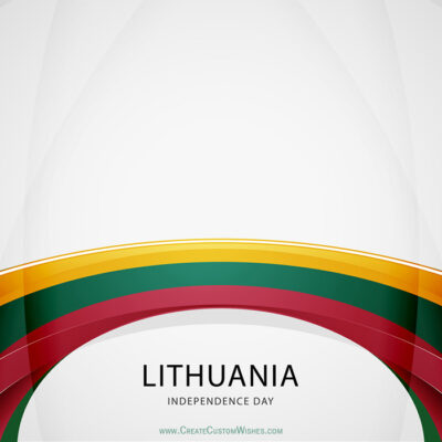 Add Name on Lithuania Independence Day Card
