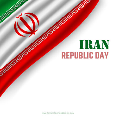 Add Name on Republic Day of Iran Card
