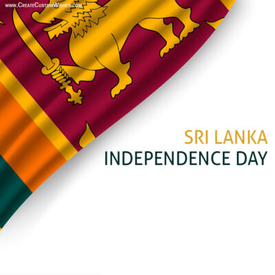 Add Name on Sri Lanka Independence Day Pic