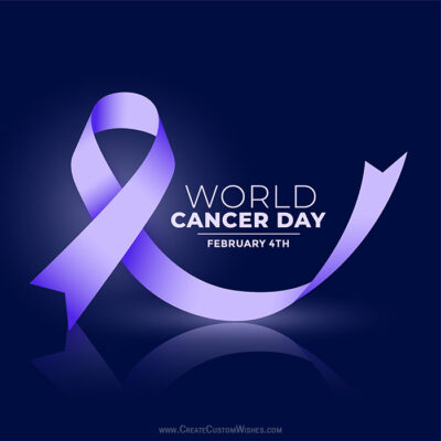 Add Name on World Cancer Day Photo