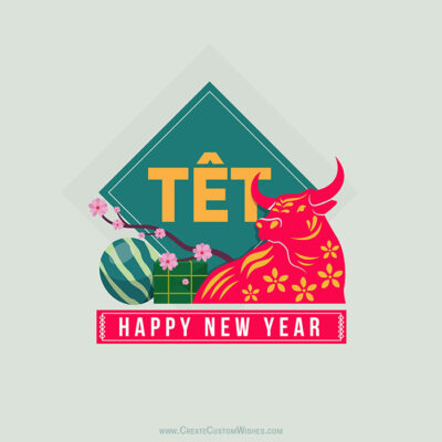 Add Text on Happy Tết Viet Wishes Image