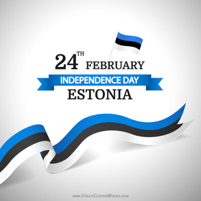 Create Estonia Independence Day Image