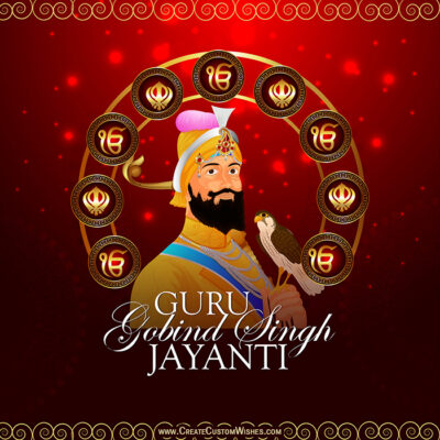 Create Guru Gobind Singh Jayanti with Name