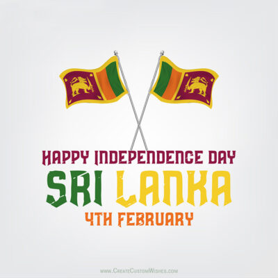 Create Independence Day of Sri Lankan Card