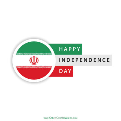 Create Iran Independence Day with Name