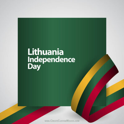 Create Lithuania Independence Day with Text