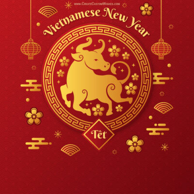 Create Vietnamese New Year 2021 Card