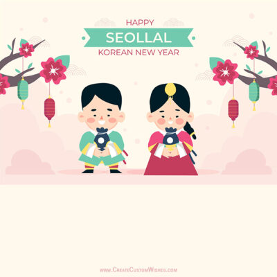 Customize Korean New Year Pic with Name
