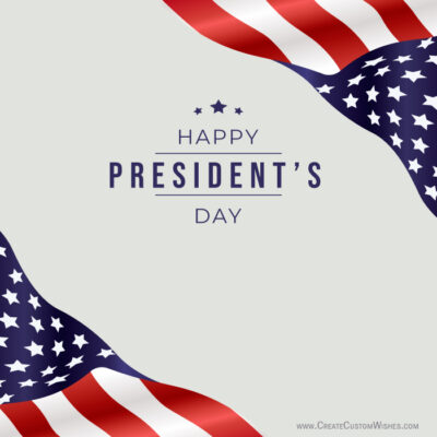 Customize Presidents' Day Greeting Card