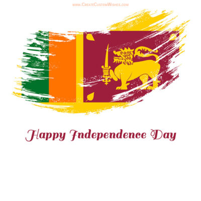 Customize Sri Lankan Independence Day Image