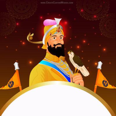 Editable Guru Gobind Singh Jayanti eCard