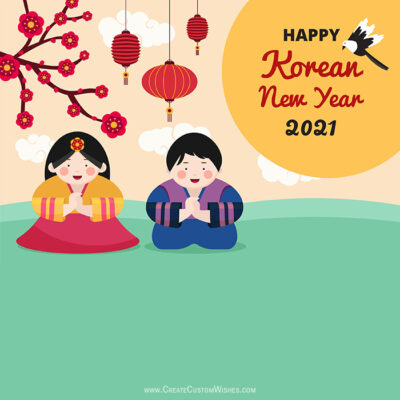 Editable Korean New Year 2021 Greetings