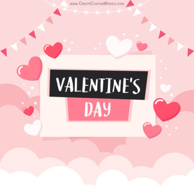 Editable Valentines Day Greeting Card