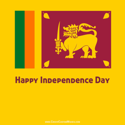 Editing Independence Day of Sri Lanka Image