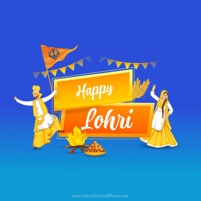 Free Customize Happy Lohri with Name