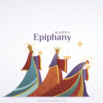 Free Editable Epiphany Greeting Cards