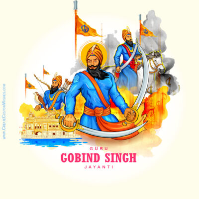 Guru Gobind Singh Jayanti Image with Name