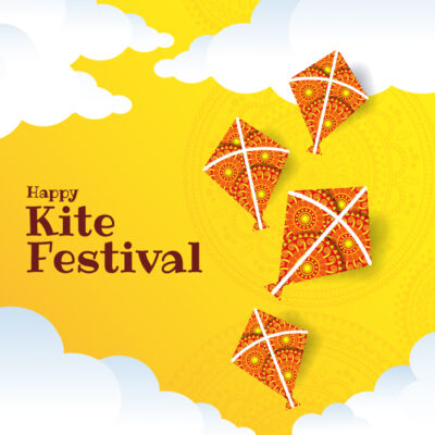 Happy Kite Festival with Name & Photo