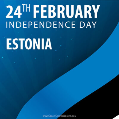 Personalize Estonia Independence Day Pic