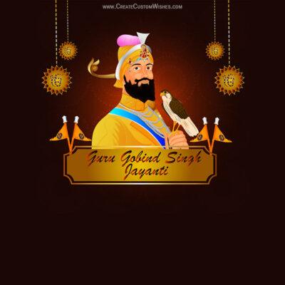 Personalize Guru Gobind Singh Jayanti Pic