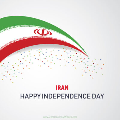 Write Name on Independence Day of Iran Pic