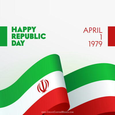 Write Name on Republic Day of Iran Pic